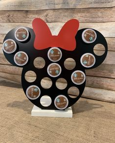 Minnie Mouse K-Cup Holder - Mickey Mouse K-Cup Organizer - Coffee Storage - Choose Color - Keurig Cup Holder - Coffee Drinker Casa Disney, Disney Rooms, Disney Diy, Disney Crafts, Disney House, Cocina Mickey Mouse, Mickey Mouse Kitchen, Minnie Mouse, Disney Kitchen Decor