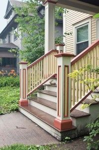 New porch stairs on an old house