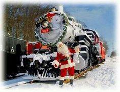 Santa choo choo