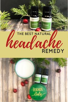A DIY recipe for getting rid of a headache naturally using essential oils | foxxybynature.com natural living | health | aromatherapy | peppermint essential oil | lavender essential oil | natural medicine