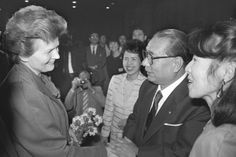 With Valentine Tereshkova, the Soviet cosmonaut who was the first woman to fly in space, in Moscow (May 1987) Image 5 of 6 Bio: Photo Album | Daisaku Ikeda Website
