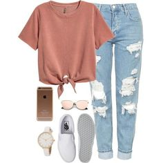 A fashion look from April 2017 featuring H&M t-shirts, Topshop jeans and Vans sneakers. Browse and shop related looks. #jeansandtshirt