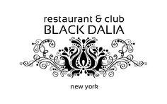 black dalia restaurant logo design by moiraproject