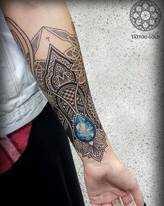 @coenmitchell on Instagram - Other angle - Mosaic forearm done on @misstj  @hushanesthetic @stencilstuff @hustlebutterdeluxe Www.tattoogoldnz.com