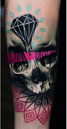 Skull Tattoos by Timur Lysenko from Poland #ink #tattoo