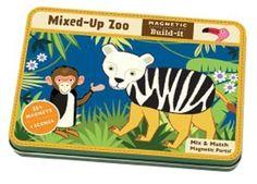 te gekke magnetiche diertjes mixed-up zoo Mudpuppy | kinderen-shop Kleine Zebra