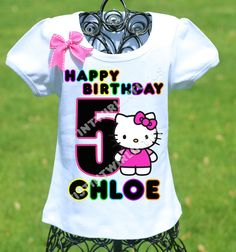 Hello Kitty Birthday Shirt By TwistinTwirlinTutus
