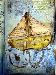 Vintagesavonette: Mix it Monthly Challenge - Sailing Boat