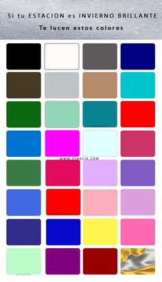 Es raro encontrar una mujeres de estación invierno brillante. Esta paleta esta saturada de colores vivos. Aquí como distinguir si te lucen los colores de esta estación