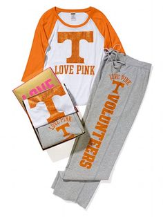 Victoria's Secret PINK University of Tennessee Baseball Tee & Boyfriend Pant Gift Set #VictoriasSecret http://www.victoriassecret.com/pink/university-of-tennessee/university-of-tennessee-baseball-tee-boyfriend-pant-gift-set-victorias-secret-pink?ProductID=82746=OLS?cm_mmc=pinterest-_-product-_-x-_-x