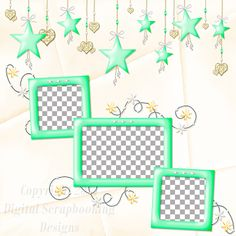 "Layout QP 6A-7 CAFS…..Quick Page, Digital Scrapbooking, Catch A Falling Star Collection, 12"" x 12"", 300 dpi, PNG File Format"