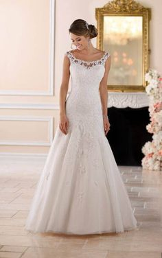 6427 Floral Lace Wedding Dress by Stella York