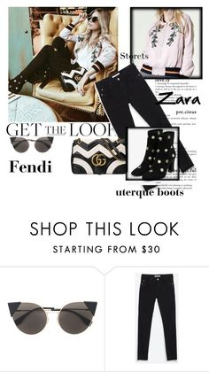 """get the look"" by carpediem29 ❤ liked on Polyvore featuring Fendi, Zara and Gucci"