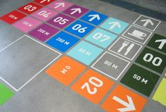Wayfinding and directional floor signage that coudl be applied to an event - Tumblr