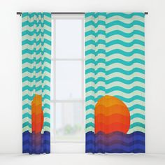 Buy #019 OWLY swimming at the sunrise Window Curtains by owlychic. Worldwide shipping available at Society6.com. Just one of millions of high quality products available. #curtains #textiles #livingrooms #products #today #owlychic #curtain #hanger #window #window #covers #livingrooms #decors #building #product