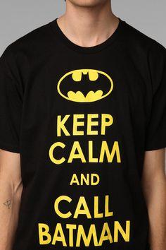 Keep Calm And Call Batman Tee