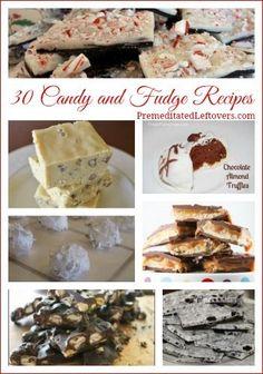 Over 30 homemade Candy, Fudge, and Bark Recipes