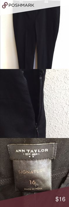 Ann Taylor Signature slacks in black Awesome AT Signature slacks. Black. Ankle length. Side zipper. Two back pockets. Never worn. Ann Taylor Pants Ankle & Cropped