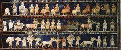 Sumerian farmers, workers, animals, etc.