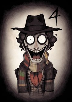 Dr. Who GIFs in Tim Burton's Style