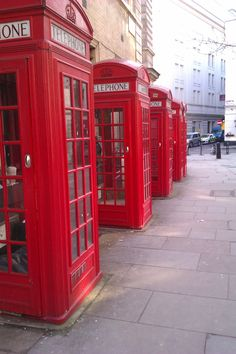 London - Red Phoneboxes