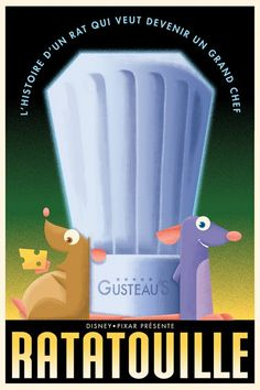Ratatouille - The Art of Disney Animation (in french the story of a rat who wants to become a big chef)