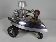 """COSMIC TRICYCLE"" Found Object Robot Sculpture Assemblage $139.00"