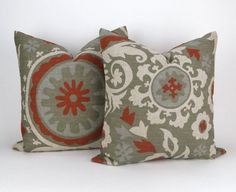 Set of two Decorator Pillow Covers Euro Shams by DeliciousPillows
