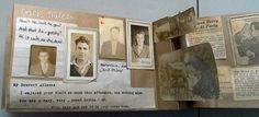 1930s scrapbook turned into paper bag album