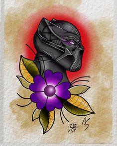 Black panther finished!!! What you think???#art #digital #flash #flashtattoo #tattooartwork #artwork #tattoo #tattoos #marvel #marveltattoos #marvelcomics #mcu #blackpanther #wakanda #flower #fun #procreate #ipadproart #ipadartist #digitalpaint #cat #tattooideas #ipad #ipadprotattooteam #disney #movie