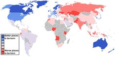 Best and Worst Places to be Born: Click to enlarge. Data from the Economist Intelligence Unit. (Max Fisher/Wash Post)