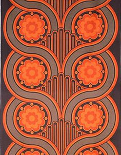 1969 art nouveau revival pattern... sort of reminds me of owl faces...