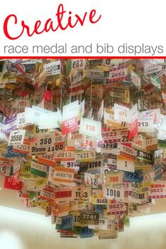 Creative Ideas for Race Medal Display and Race Bibs