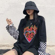Grunge Outfits, Tumblr Outfits, Edgy Outfits, Cool Outfits, Tomboy Fashion, Fall Fashion Outfits, Harajuku Fashion, Streetwear Fashion, Jugend Mode Outfits