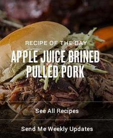 Pulled pork is brined in apple juice, slow smoked and loaded onto buns topped with BBQ sauce and homemade slaw. Pulled Pork Brine Recipe, Pulled Pork Smoker Recipes, Brine For Pork, Smoked Pulled Pork, Pork Recipes, Grill Recipes, Lunch Recipes, Easy Recipes