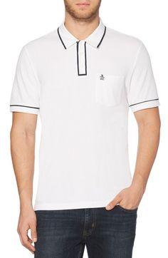 Original Penguin Men's The Earl Polo In Bright White Pique Shirt, Modern Man, Vintage Looks, Penguins, Polo Ralph Lauren, Mens Fashion, Mens Tops, Cotton, Clothes