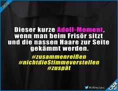 Am besten nicht in den Spiegel sehen ^^' #schwarzerHumor #Spaß #lustiges #lachen #visualstatements