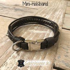 Lederhalsband für kleine Hunde mit Klickverschluss • Farbe nach Wunsch