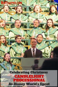 When I am visiting Walt Disney World during the Christmas season, I absolutely cannot miss Celebrating Christmas with the Candlelight Processional at Epcot! Disney World Tips And Tricks, Disney Tips, Disney Dining Tips, Walt Disney World Vacations, Disney Parks, Disney World Christmas, Polynesian Resort, Downtown Disney