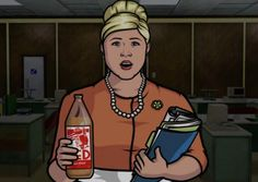 Pam Poovey (portrayed by Amber Nash) from Archer Archer Tv Show, Archer Fx, Archer Characters, Fictional Characters, Archer Funny, Pam Poovey, Sterling Archer, Kenny Loggins, Grown Man