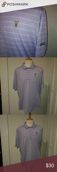 Adidas mens pro motion golf shirt xl polo Adidas mens polo shirt golf shirt size xl purple stripe polo shirt men's adidas Shirts Polos