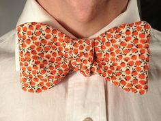 Handmade Bowtie  Orange Bloom by toddsties on Etsy