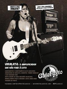 """Ad 6 - Guitar Player Magazine - Ago/13 - Who: Monica Agena (Moxine) - Campaign: """"Inclusão Valvulada"""""""