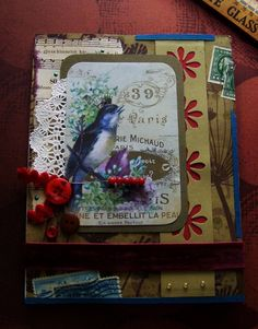 All Occasion Greeting Card with beautiful winter blue bird!