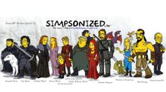 Digital artist Adrien Noterdaem brilliantly transformed the Game of Thrones cast into cartooned Simpsons characters for his first project series.