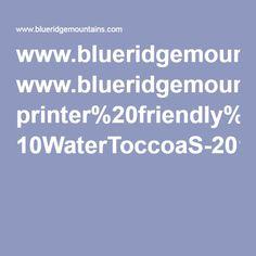 Map showing fishing locations www.blueridgemountains.com printer%20friendly%20maps 10WaterToccoaS-2015V1.2RGBweb.pdf