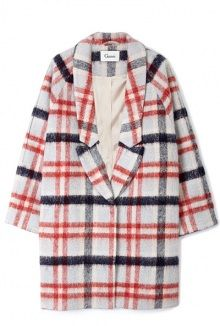 Mother of Pearl Check Coat by Ganni