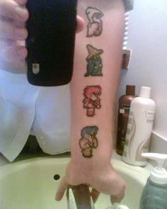 Final Fantasy tattoo ... cute lol