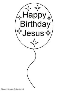 A free printable Happy Birthday Jesus coloring page for