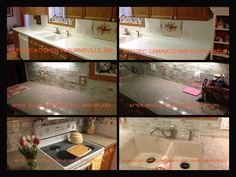 Granite Transformations completed Burnsville, MN Kitchen: Bianco Modena w/Metropolis Opal Backsplash and Blanco Biscotti Undermount Sink!